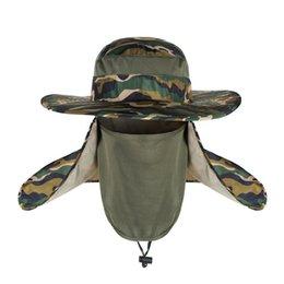 Ingrosso 2018 New Summer antivento Sun Hats SPF 30+ UV protezione Cappello pesca Fisherman Cap impermeabile Big Bucket Hats con un'ampia visiera