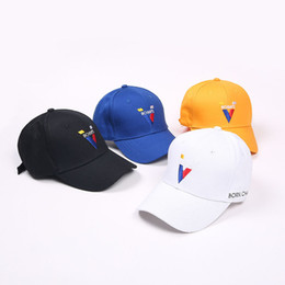 9e4dcb0e3bd Letter born Champs Baseball Cap New Fashion Men and Women Hip Hop Caps  Justin Bieber Black White Yellow Blue Bones Snapback Hats
