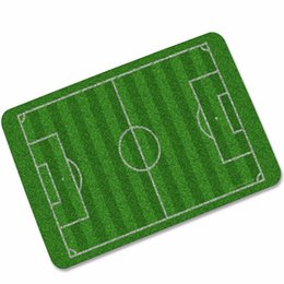 black football field UK - Football Field doormat Carpet For Living Roomblack Cat eye Soccer Basketball Mat Entrance Non-slip Floor Mat bathroom Rugs