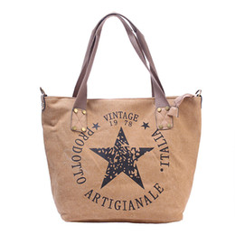 e99d82993ca7 DIDA BEAR Brand New Women Canvas Handbags Lady Large Space Tote Bag for  Shopping Travel Female Shoulder Bags Bolsas Stars Letter
