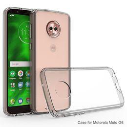 Anti Dirt Australia - Crystal Cover Anti Drop Tranparent Cell Phone Case For Motorola MOTO G6 MOTO E4 LG G7 TPU+Acrylic Ultra Slim Anti Scratch Cases