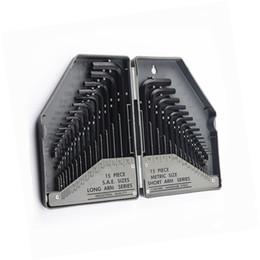$enCountryForm.capitalKeyWord NZ - free shipping 30pcs industrial grade metric inch allen hex key wrench set L type black allen key spanner flat or ball head