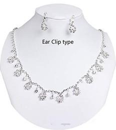 46178561ff88 8 Fotos Collares para fiestas online-Conjuntos de joyas pendientes de collar  de diamantes de imitación de