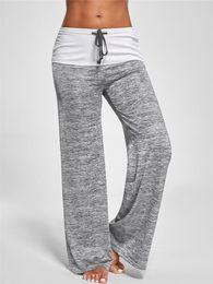 White yoga pants dance online shopping - Summer New Yoga Pants Women Black Gray Wide Legs Breathable Dance Pants Trousers Plus Size S XL