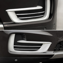 055d52f473cd Stainless Steel Car Front Fog Light Decorative Cover Trim Strip For BMW X5  F15 2014-17 Car Styling Exterior Accessories Sequins