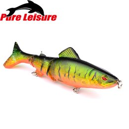 soft lure bait section 2018 - wholesale PureLeisure Fishing Lures Hard Bait esche artificiali pesca spinning Multi-section Fish Lures for Trout Mandar