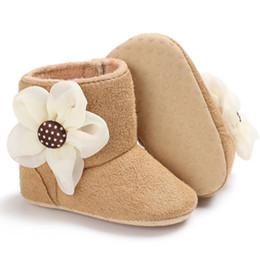 $enCountryForm.capitalKeyWord NZ - Toddler Girl Flower Boots Winter Anti-slip Plush Crib Shoes Newborn Baby Girl Ankle Length Soft Sole Boots