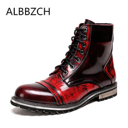 Genuine leather mens ankle boots fashion casual round toe lace up martin  boots men high top work big yards 45 46 6c9a2aefe047