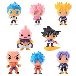 $enCountryForm.capitalKeyWord Australia - 10pcs DHL FUNKO POP 10 cm Anime Dragon Ball Z POP Super Saiyan VEGETA Rood Haar Action Figure PVC Collection Model Goku