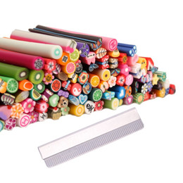 Nail fimo online shopping - 100Pcs D Designs Nail Art Fimo Canes Sticks Rods Gel Tips Manicure Decoration