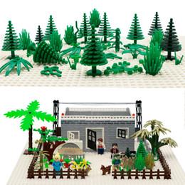 Blocks Moc Canada - City Military Accessory Building Blocks MOC Weapon DIY Green Bush Flower Grass Tree Plants Garden Toy Compatible LegoINGlys City