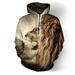 2018 Herbst Winter Mode Lion Ancient Digitaldruck Männer / Frauen Mit Kapuze Hoodies Cap Windbreaker Jacke 3d Sweatshirts