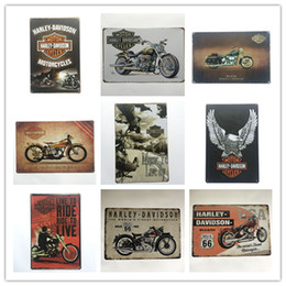 Wholesale Hot Sale Harley Retro Vintage Metal Tin sign poster for Man Cave Garage shabby chic wall sticker Cafe Bar home decor