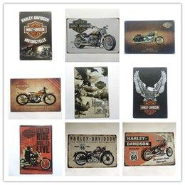 Sıcak Satış Harley Retro Vintage Metal Tabela posteri için Adam Mağara Garaj shabby chic duvar sticker Cafe Bar ev dekor