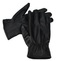 Wholesale Men Fashion Warm Cashmere Leather Male Winter Gloves Driving Waterproof