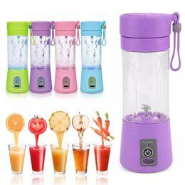 Toptan satış USB Bağlantısı Şarj edilebilir Suyu Maker ile Taşınabilir Elektrikli Meyve Sıkacağı Kupası Sebze Citrus Blender Meyve Sıkacağı Buz Kırıcı