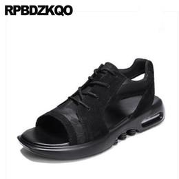 0dce178c4fa45d Flat Japanese Black Shoes Designer Men Casual Fashion Strap Beach Platform Mens  Sandals 2018 Summer Outdoor Sport Sneakers Mesh