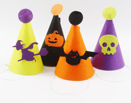 Wholesale Halloween Party Hat Non Woven Children Hat Dress Up Children Hat Kids Cosplay Props Halloween Party Accessory