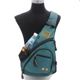 2d80a455d4 Waterproof Oxford Nylon Men Messenger One Shoulder Rucksack Cross Body Bag  Book Male Knapsack Sling Chest Sling Back Pack Bags