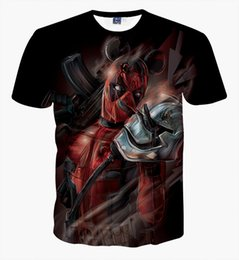 character tees Australia - New Arrival American Badass Deadpool T Shirt Men Women Cartoon Characters 3d t-shirt Funny Casual tee shirts tops