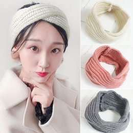 Wholesale 2018 Fashion Girl Warm Woven Twist Headbands Autumn Winter Warm Elastic Hair Bands Solid Wool Turban Beauty Hair Accessories
