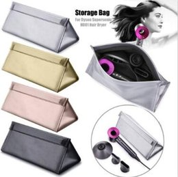 Wholesale 5 Colors Waterproof Magnetic Clasp Hair Dryer Storage Bag High Quality Heat Resistant Fabric Multi Function Cosmetic Bags CCA10710