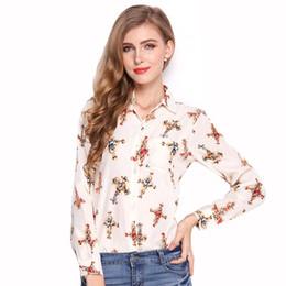 China 2017 New Fashion White And Red Lip Print Chiffon Blouse&Shirt Lady Fashion Long Sleeve Blouse Shirt Autumn Women Tops Blouse supplier ladies lip print top suppliers