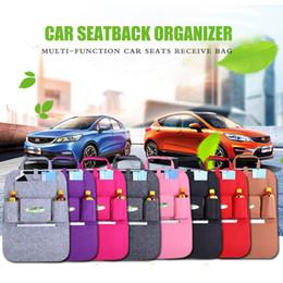 Discount car back seat cup holder - Auto Car Back Seat Storage bag Car Seat Cover Organizer Holder Bottle tissue box Magazine Cup Phone Bag backseat Organiz
