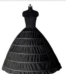 $enCountryForm.capitalKeyWord Australia - 2018 In stock Ball Gown Petticoat Cheap White Black Crinoline Underskirt Wedding Dress Slip 6 Hoop Skirt Crinoline For Quinceanera Dress