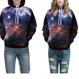 $enCountryForm.capitalKeyWord NZ - Space Galaxy Printing Hoodies Sweatshirt Women Large Size 3XL Hoodie Punk Casual Lace Up Hooded Pullovers Tracksuit Ladies