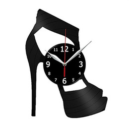 $enCountryForm.capitalKeyWord UK - High heels vinyl record wall clock modern home decor light wall art kitchen bedroom living room decorations christmas personalized gifts