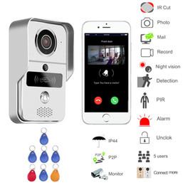 Discount free video phone - WIFI wireless Video door phone Night version MINI camera Video Intercom support IOS&Andorid APP Control Smart Home Free