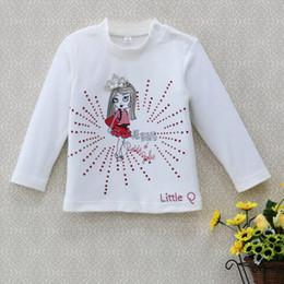 $enCountryForm.capitalKeyWord Canada - 2019 Little Q spring and summer baby girl t shirt flower print cute long sleeve kid apparel pure cotton children clothing