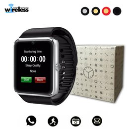 Iphone golden batterIes online shopping - Bluetooth Smart Watch Men GT08 With Touch Screen Big Battery Support TF Sim Card Camera For IOS iPhone Android Partphone Bracelet Smartwatch