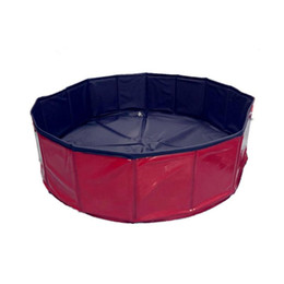 Beds Leather NZ - Round Foldable Pet Pools Dog Cat Cool Play Bath Basin Space Saving PVC Cleaning Supplies Eco Friendly 68qb2 BB