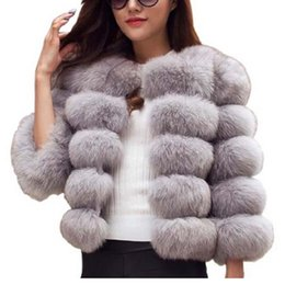 $enCountryForm.capitalKeyWord NZ - Naiveroo Fluffy Faux Fur Coat Jacket Women Short Thick Furry Fake Fur Winter Outerwear Coat 2018 Autumn Overcoat Plus Size 3XL C18111401