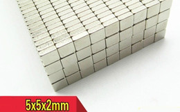 magnet 5mm UK - Mini hard magnet Sell in 100pcs lot square shape of 5x5x2mm NdFeB magnet by bag,magnets 5mm,2mm thickness
