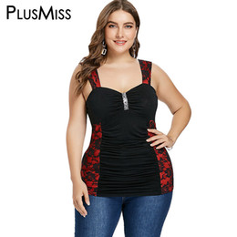 4f0a0bf62c8ed PlusMiss Plus Size 5XL 4XL Sexy Lace Sequin Ruched Tunic Tank Tops Women  Summer 2018 Big Size Sleeveless Club Party Vests Ladies