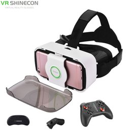 2baa1fc0773d VR SHINECON 3D Virtual Reality VR Glasses Headset With Game Remote  Controller Handle Gamepad For 4.0-6 Smartphones