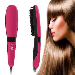 hair straightening brush japan 2019 - NASV 300 Hair Straightener 75W Beautiful Start Straightening Brush Comb Styling Tools Tourmaline Ceramic Flat Iron Hair