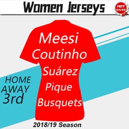 Women football uniform online shopping - Women Jerseys MESSI Home Soccer Jersey COUTINHO O DEMBELE SUAREZ RAKITIC Club rd Football Uniform Away Jerseys