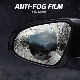 China 2pcs box Rainproof Car Rearview Mirror Film Sticker Film Anti-fog Protective Safe Driving Rain Shield Replacement Universal supplier car safe boxes suppliers