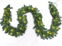 Decor Ornament UK - Artificial Christmas Hanging vine with LED Lights Shining Home Party Decor Gift