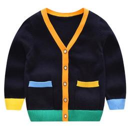 8382ee577b258 Casual Wear Baby Sweater Cárdigan niño Cárdigan con cuello en V Diseño 2  colores Soft Handfeel Exquisite Workmanship