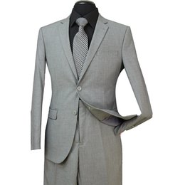 China STOCK IN USA Men Wedding Suits Fit Two Pieces with Pants Wool Blend Tuxedos Fashion Groom Business Career Suits ST003 cheap pants wear wedding suppliers