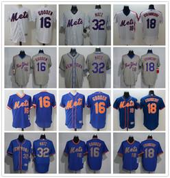 9c20b0db444 Men Women Youth NY Mets Jersey  32 Steven Matz 18 Darryl Strawberry 16  Dwight Gooden Throwbacks Baseball Jerseys