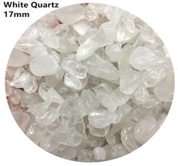 Crystal Chips NZ - C01 17mm White Crystal Natural Stone Chips Gravels Block Quartz Aquarium