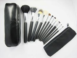 Wholesale Factory Direct DHL New Makeup Brushes Pieces Brush Sets Leather Pouch With Numbered DHL GIFT