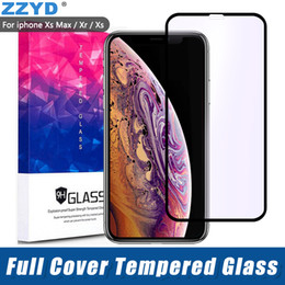 ZZYD per iPXr Xs 6.1 6,5 pollici Full Cover in vetro temperato 3D 9H Cover Purple Ray Proteggi schermo antideflagrante HD