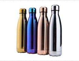 Chinese  Stainless Steel Water Bottle Double Wall Vacuum Insulated Metal BPA Free Leak-proof 500ml Cola Shape Travel Bottle manufacturers